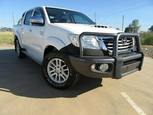 2013 Toyota Hilux KUN26R MY12 SR5 Xtra Cab White 5 Speed Manual Utility Emerald Central Highlands Preview