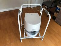Portable FLUSHABLE toilet with frame £80 - Nearly new! 'Porta Potti Excellence'