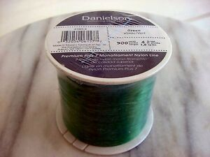 New Spool PLUS 7 GREEN MONOFILAMENT NYLON Line, 4 lb. Test, 900 Yd spool