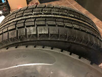 215 75 15 Brand new never used winter tires on rims balanced.