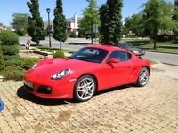 2010 Porsche Cayman rouge flamboyante
