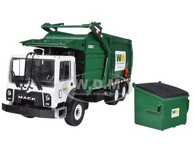 MACK TERRAPRO WASTE MANAGEMENT GARBAGE TRUCK WITH BIN 1/34 BY FIRST GEAR 10-4001