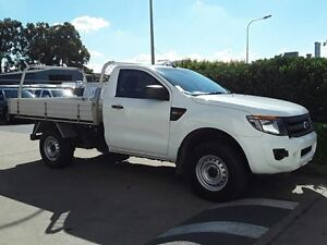 2014 Ford Ranger PX XL 4x2 Hi-Rider Cool White 6 Speed Sports Automatic Cab Chassis Acacia Ridge Brisbane South West Preview