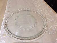 Large Glass Plater or Display Plate