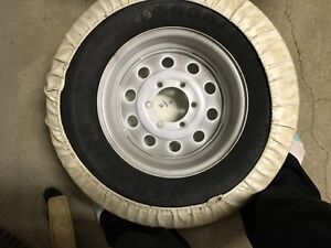 "15"" Goodyear Marathon Tire - New - on rim with cover -RV Spare Strathcona County Edmonton Area image 2"