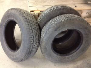 3 - USED 205/75R15 Tires (2 Hercules / 1 GoodYear)