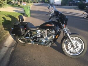 Honda Shadow Spirit 1100 . Looks great. Runs awesome.