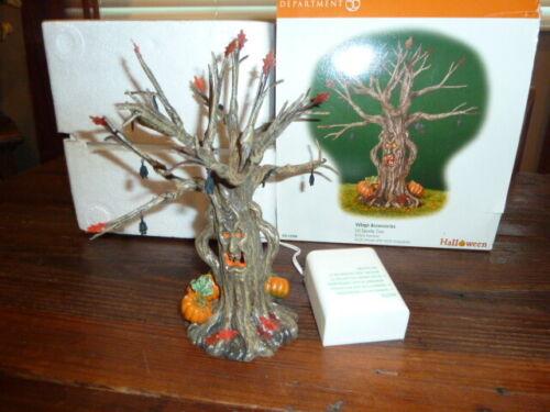 DEPT 56 HALLOWEEN VILLAGE - LIT SPOOKY TREE 52896 LIGHTS FLASH ON/OFF