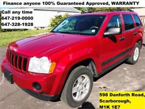2005 Jeep Grand Cherokee Laredo 4X4 FINANCE 100% APPROVED MINT
