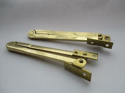 Pair of desk stays, polished brass, old stock