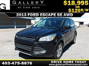2013 Ford Escape SE AWD $129 bi-weekly APPLY NOW DRIVE NOW