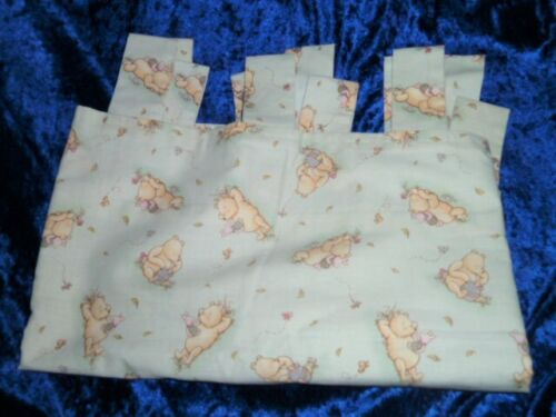Classic Winnie the Pooh Baby Tab Top Valance Green Nursery Decor