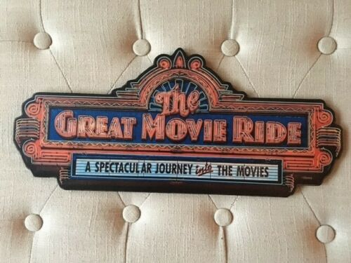THE GREAT MOVIE RIDE HOLLYWOOD STUDIOS HANDCRAFTED NOSTALGIC WOODEN SIGN