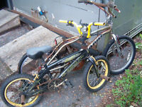 2 BMX BIKES Spares or repair been standing outside