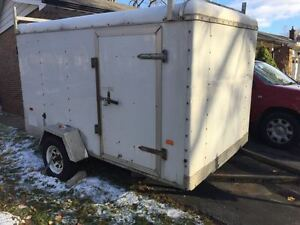 Utility Trailer 5x10, 8 ft height with ladder racks