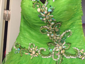 Lime Green Prom Dress Prince George British Columbia image 1