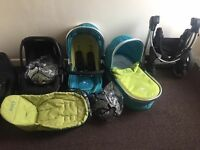 Icandy peach travel system in sweet pea with extras