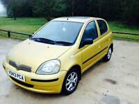 TOYOTA YARIS 5DOOR AUTOMATIC 12MONTH MOT 8SERVICES FROM EXCELLENT CONDITION HPI CLEAR