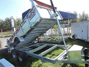 Galvanized 7X14 14K Dump Trailer