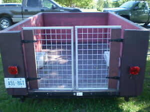 COUSTEM TRAILER 6 X 9 WITH 4' OPENING FOR GATE