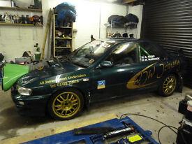 subaru wrx sti rally car 34mm restrictor turbo