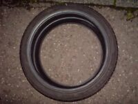 Firestone firehawk SZ90 225.40.18 92y extra load. X 1 part worn 4mm tread.