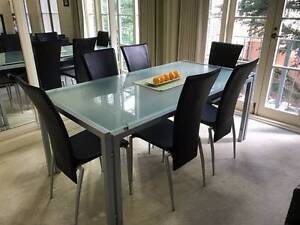 7 Piece Dining Table and matching Hall (Side) Table Echuca Campaspe Area Preview