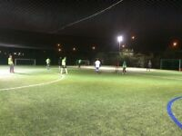 Friendly 7-a-side football in Beckton, East London. New players needed for weekly games!