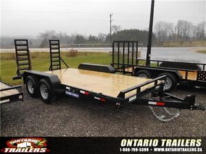 2017 ONTARIO TRAILERS 7 X 16 FT IMPLEMENT (9990 LB GVWR)