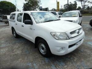 2011 Toyota Hilux TGN16R MY11 Upgrade Workmate White 5 Speed Manual Dual Cab Pick-up Homebush West Strathfield Area Preview