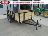 VERSATILE UTILITY TRAILER - HIGH SIDES 5 X 8 - QUALITY MADE 2016