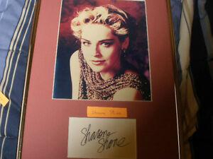 Sharon Stone  8X10 photo with signatureLovelace, Basic Instinct.