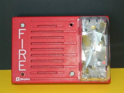 Simplex 4903-9238 Audio Visual 24vdc 110cd Red Fire Alarm Horn Strobe Quantity