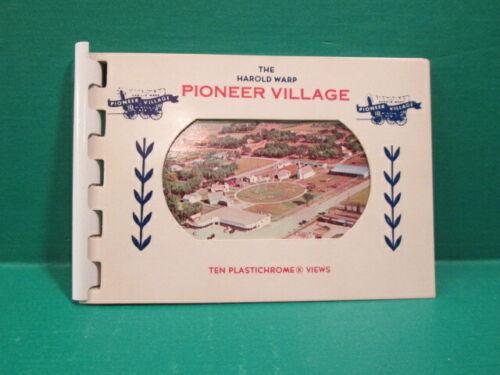 Vintage Harold Warp Souvenir Pioneer Village Ten Plastichrome Views