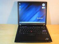 "Windows 7 Wireless Laptop Lenovo IBM ThinkPad R60 15"" Intel Core Duo - 3GB - 200GB HDD!!"