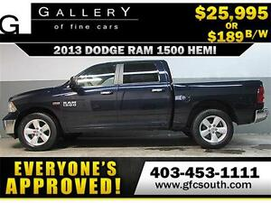 2013 DODGE RAM 1500 SLT CREW *EVERYONE APPROVED* $0 DOWN $189/BW