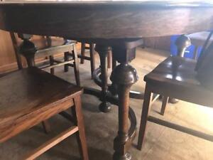 Antique Buffet and table