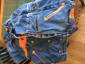 Unique one of a kind Custom handmade in Canada UNISEX jean vest
