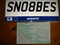 SN08BES Cherished Number Plate