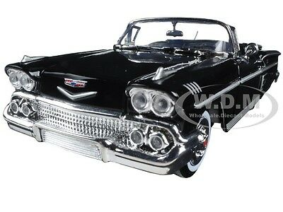 1958 CHEVROLET IMPALA BLACK 1:24 DIECAST MODEL CAR BY MOTORMAX 73267