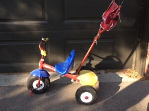 Radio Flyer Push Trike - Tricycle with Push Bar