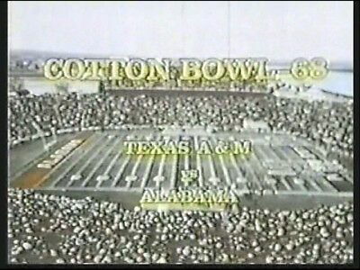 1968 Cotton Bowl Game Dvd Alabama Vs Texas A M Bryant Vs Stallings Free Shipping