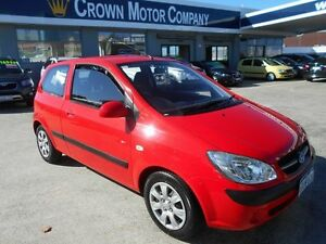 2010 Hyundai Getz TB MY09 SX Red 4 Speed Automatic Hatchback Victoria Park Victoria Park Area Preview