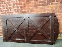 Heavy duty well made arched garden gate or door, never used or cut It measures 6ft x 3 ft.