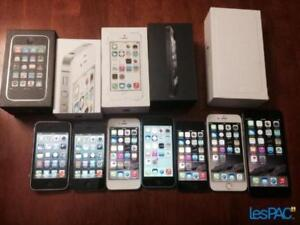 Cellulaire apple iphone 4-4s-5-5c-5s-6-6s 7 LG ,Samsung Galaxy