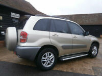 0303 TOYOTA RAV4 2.0 VVTi GX 4X4 WAGON/ESTATE WHITE GOLD MET 77K SUPERB