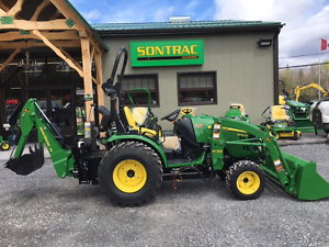 2014 JOHN DEERE 2032R TLB - LOADER AND BACKHOE - LOW HOURS!