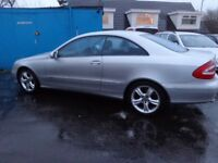 2003 mercedes clk 320 avantgarde auto mot 1 year h s h ex condition must be cheap £1495