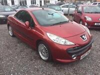 2008 PEUGEOT 207 1.6 16V GT CONVERTIBLE 12 MONTHS WARRANTY AVAILABLE