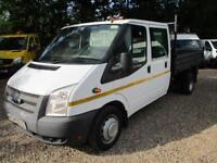 2014 Ford Transit 2.2TDCi 350 LWB Double CAB TIPPER PICK UP 80k genuine NO VAT